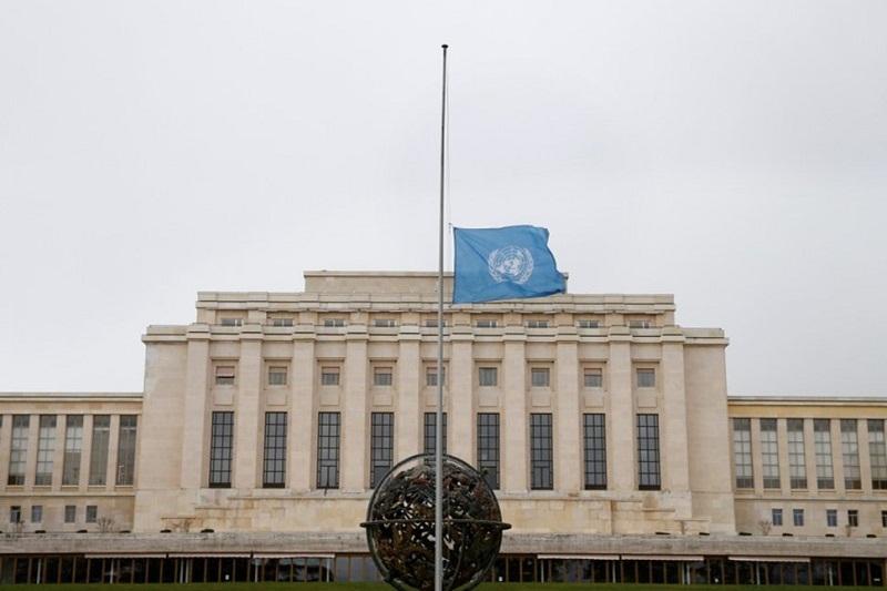 Bendera Setengah di Kantor PBB untuk Korban Ethiopian Airlines