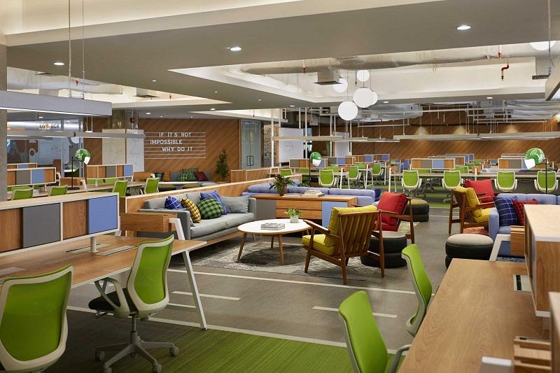 Desain Interior Kantor Gojek yang Kekinian