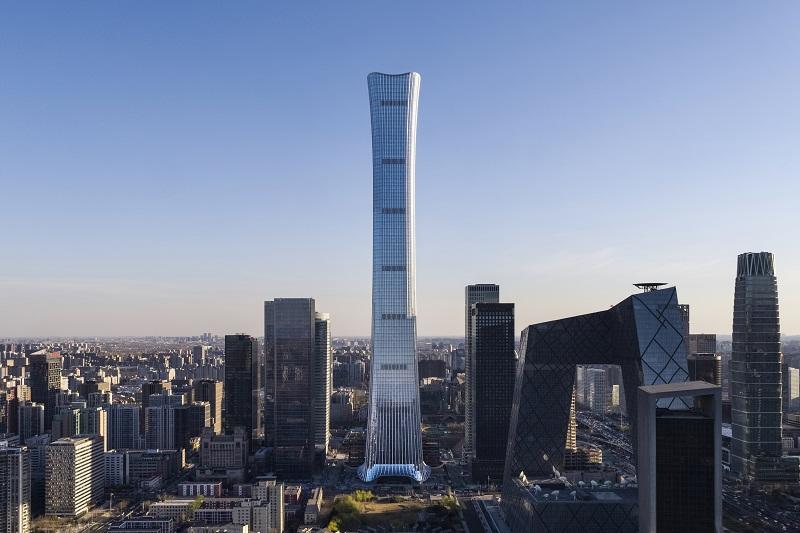 Gedung Tertinggi di Beijing Yang Menyerupai Kapal Tradisional