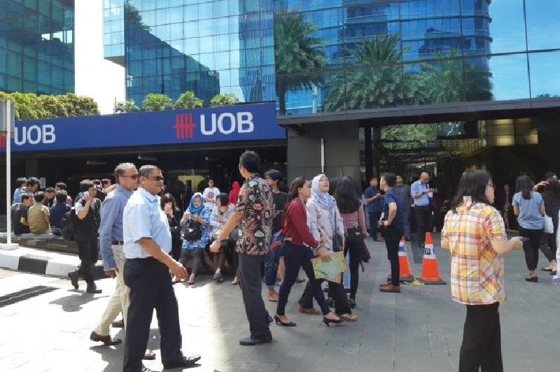 Gempa Banten Bikin Panik Karyawan Perkantoran Sudirman
