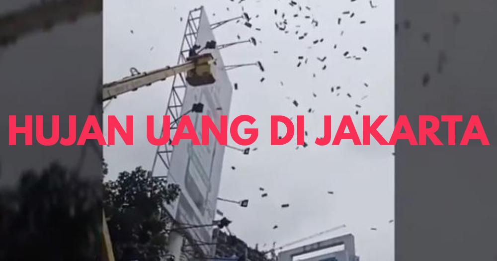 Heboh Hujan Uang di Jakarta