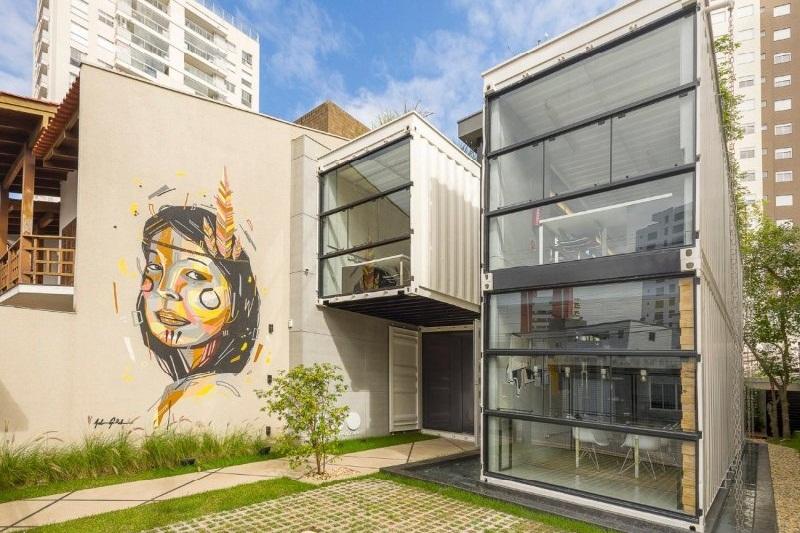 Inspirasi Desain Arsitektur Kantor Modern Pakai Kontainer