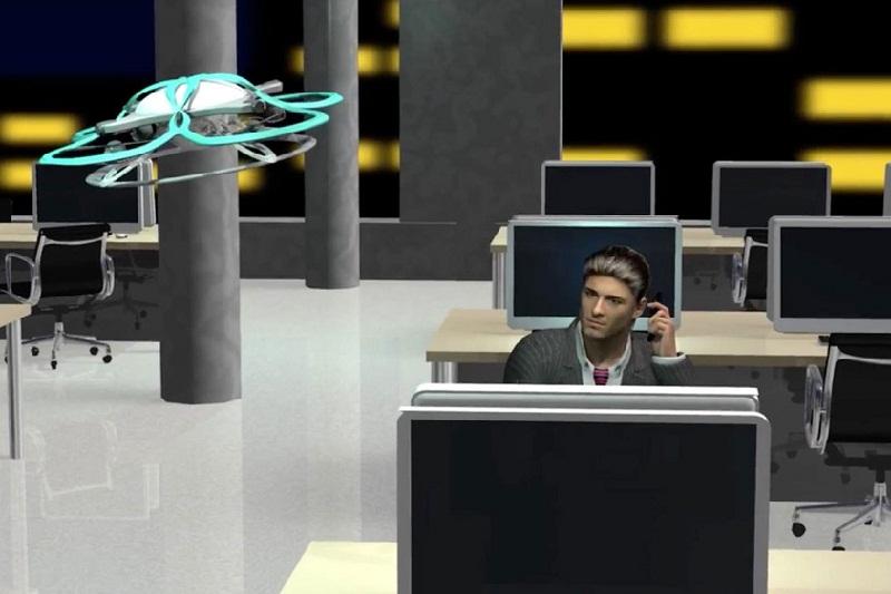Memanfaatkan Drone Untuk Cegah Karyawan Lembur di Kantor