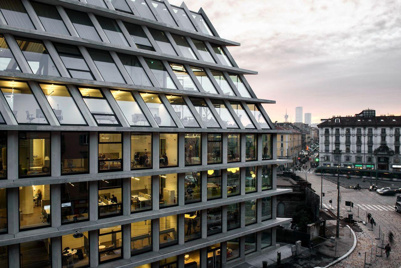 Penampakan Kantor Baru Microsoft di Milan Italia