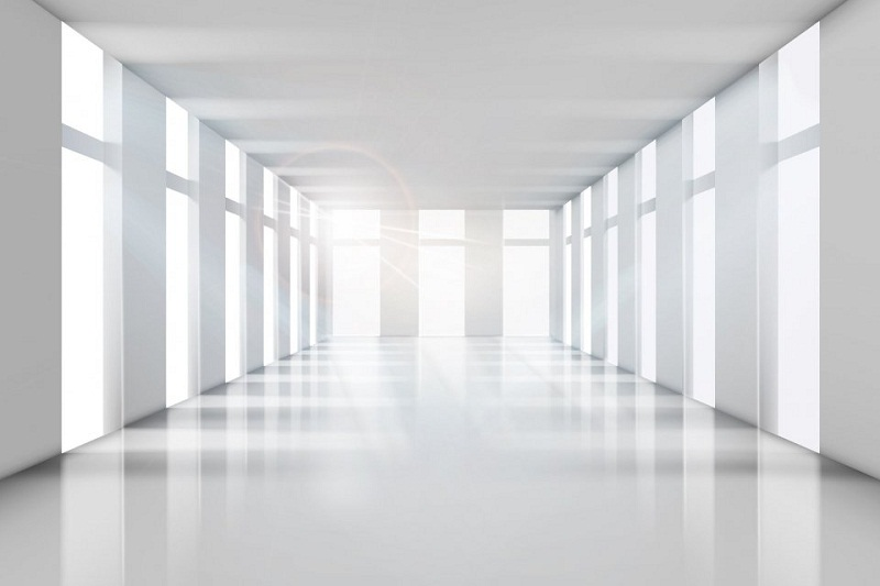 Ruang Kantor Kosong OJK yang Tidak Digunakan