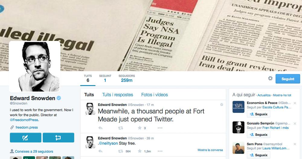 Buat Akun Twitter, Edward Snowden Sindir NSA