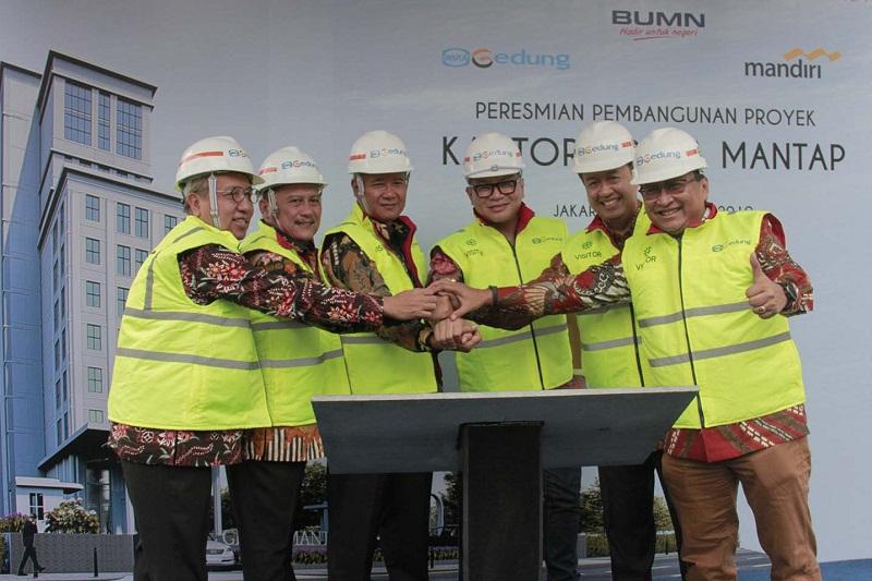 Wika Gedung Bangun Kompleks Perkantoran Bank Mandiri